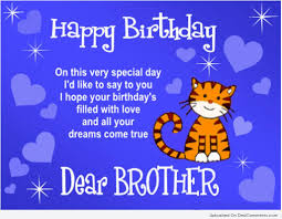 Happy Birthday To My Lovely Brother