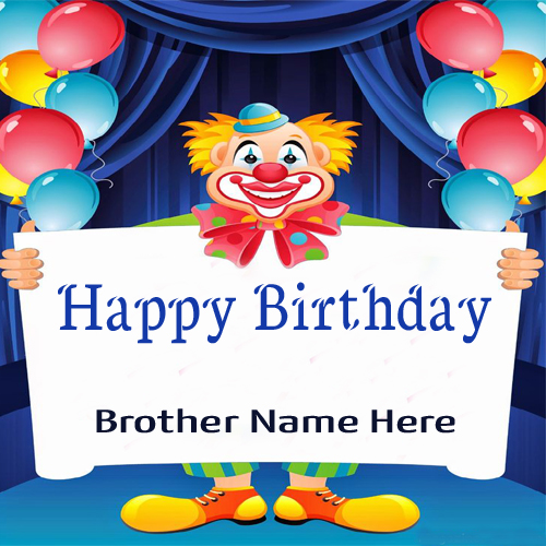 Imagenes De Happy Birthday Wishes For Brother Cake With Name