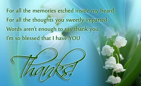 thanku message or images for parents