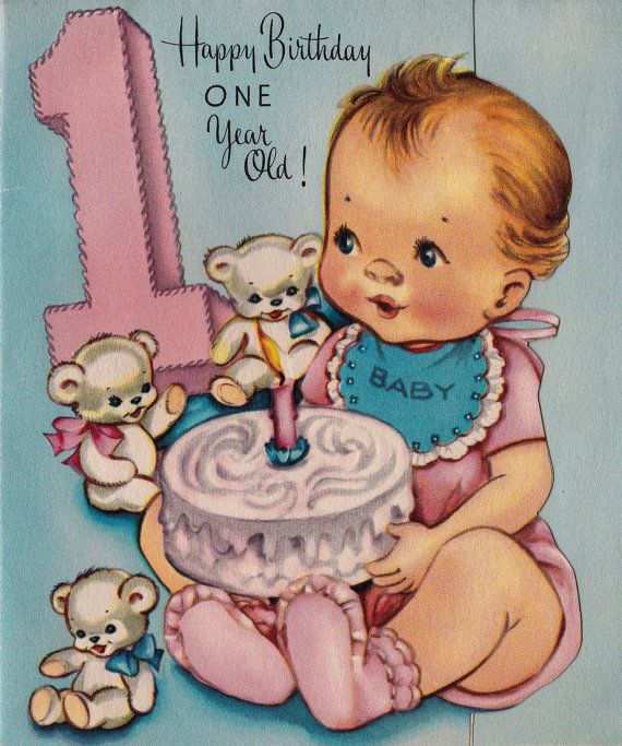 Happy Birthday Cartoon Image For 1 Year Old Baby