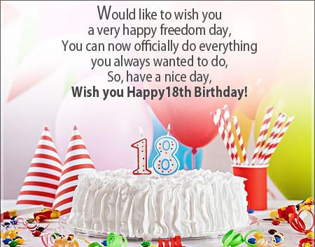 Wish You Happy 18 Birthday