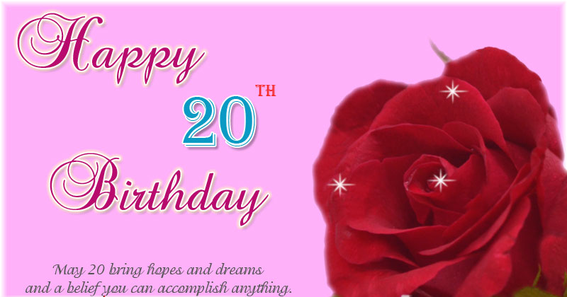 Happy 20 Birthday Images For Your Friends