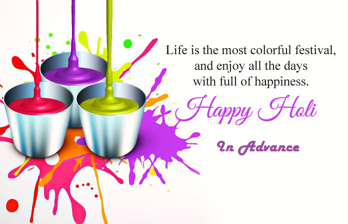 happy holi in advance quotes wallpaper