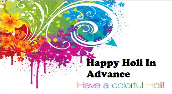happy holi in advance wallpaper