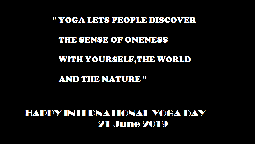 Yoga Day Quotes Wallpaper