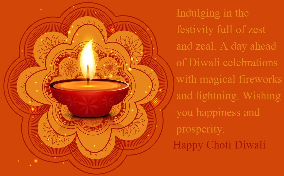 Happy Choti Diwali Quotes Wallpaper