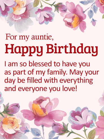Wish You a Very Happy Birthday Aunt